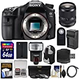 Sony Alpha A77 II Wi-Fi Digital SLR Camera Body with 18-135mm Lens + 64GB Card + Battery + Charger + Backpack Case + Filters + Flash + Kit