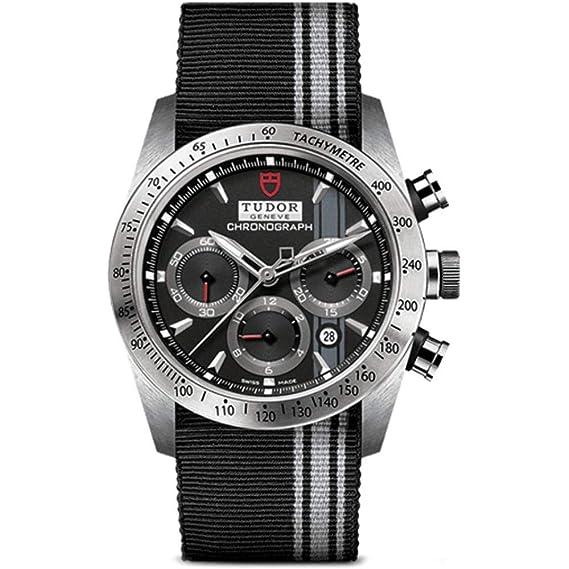 Tudor Reloj de Hombre automático 42mm Correa de Tela Caja de Acero m42000-0009