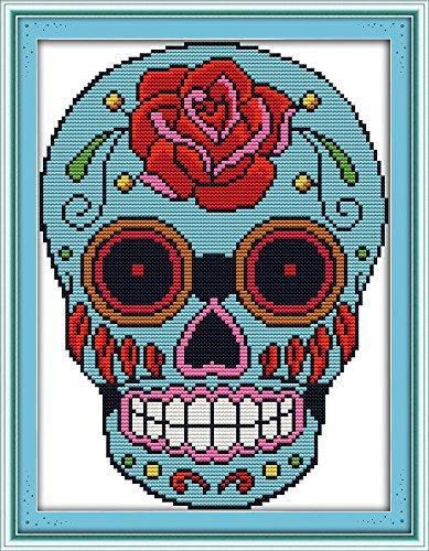 - Good Value Cross Stitch Kits Beginners Kids Advanced -Skull 11 CT 11