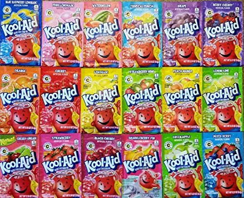 Kool Aid Ultimate Party Pack- 18 Different flavors -2 each- 36 Total