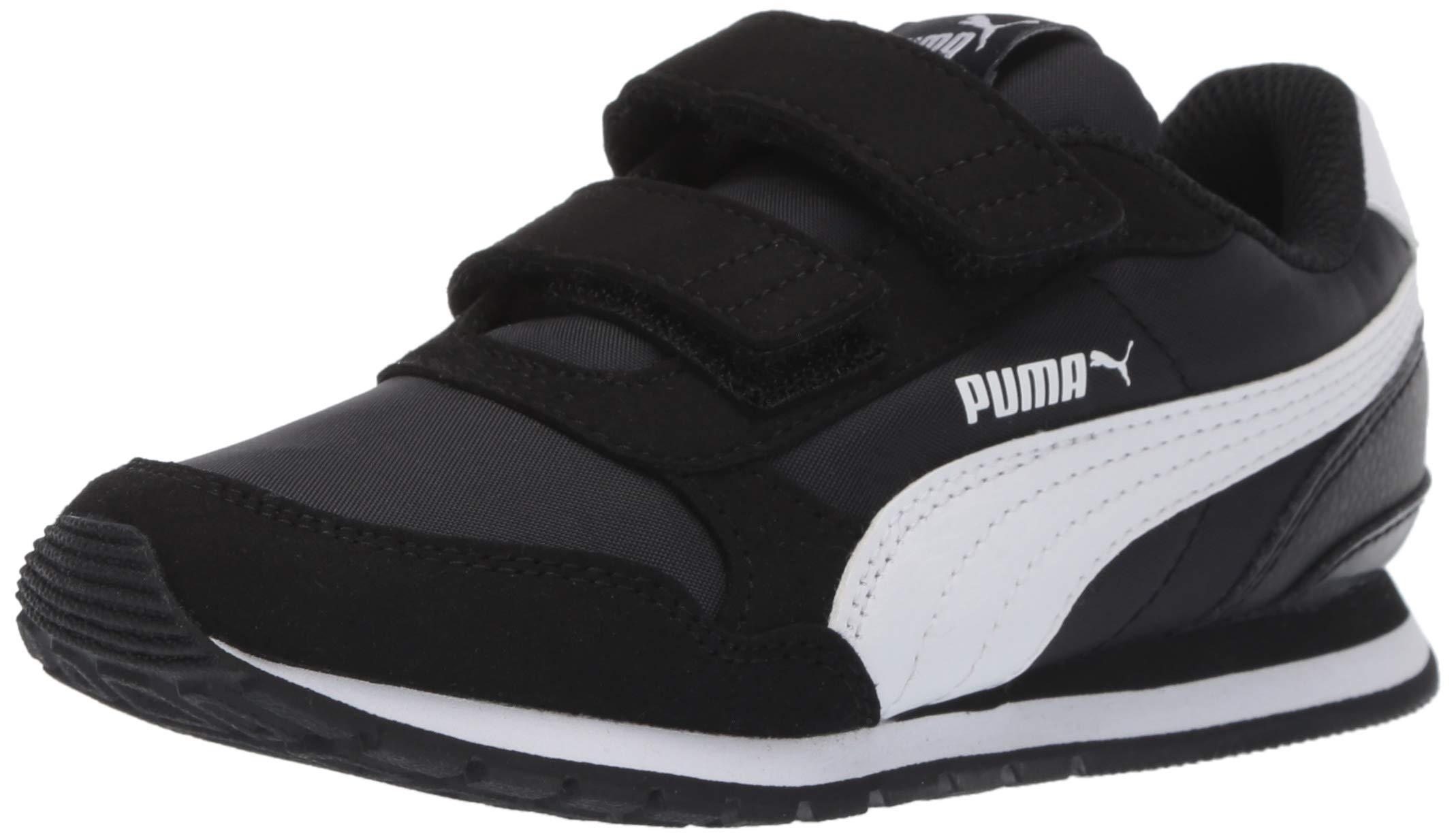 PUMA Baby ST Runner NL Velcro Kids Sneaker black-white 6 M US Toddler by PUMA