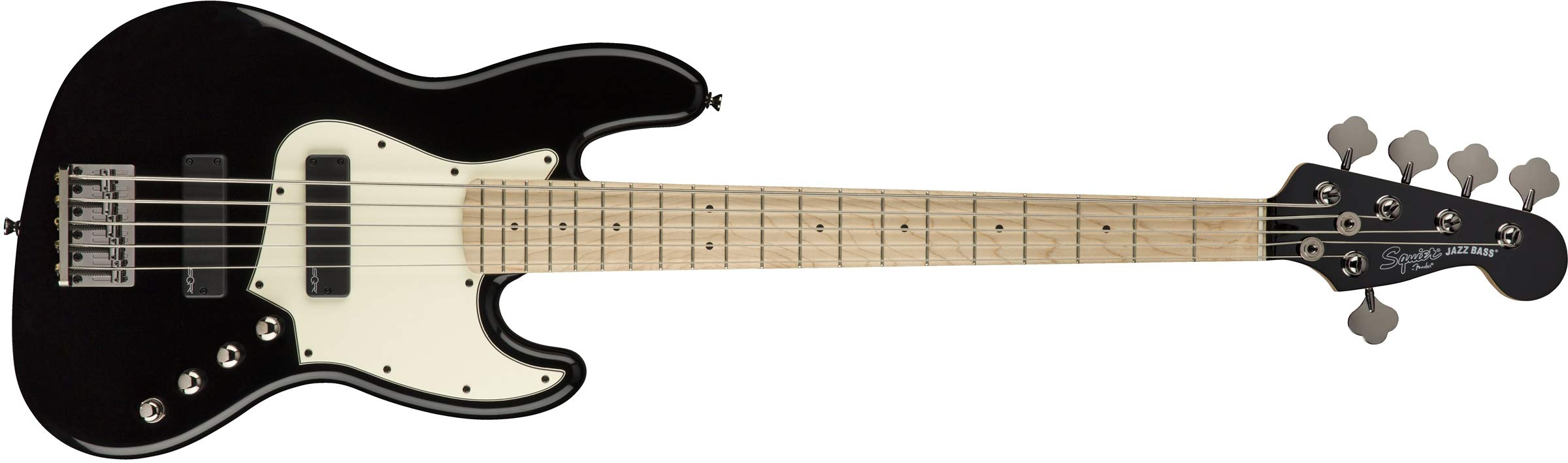 Squier by Fender Contemporary Active Jazz Bass V HH, Maple Fingerboard, Black by Fender (Image #1)