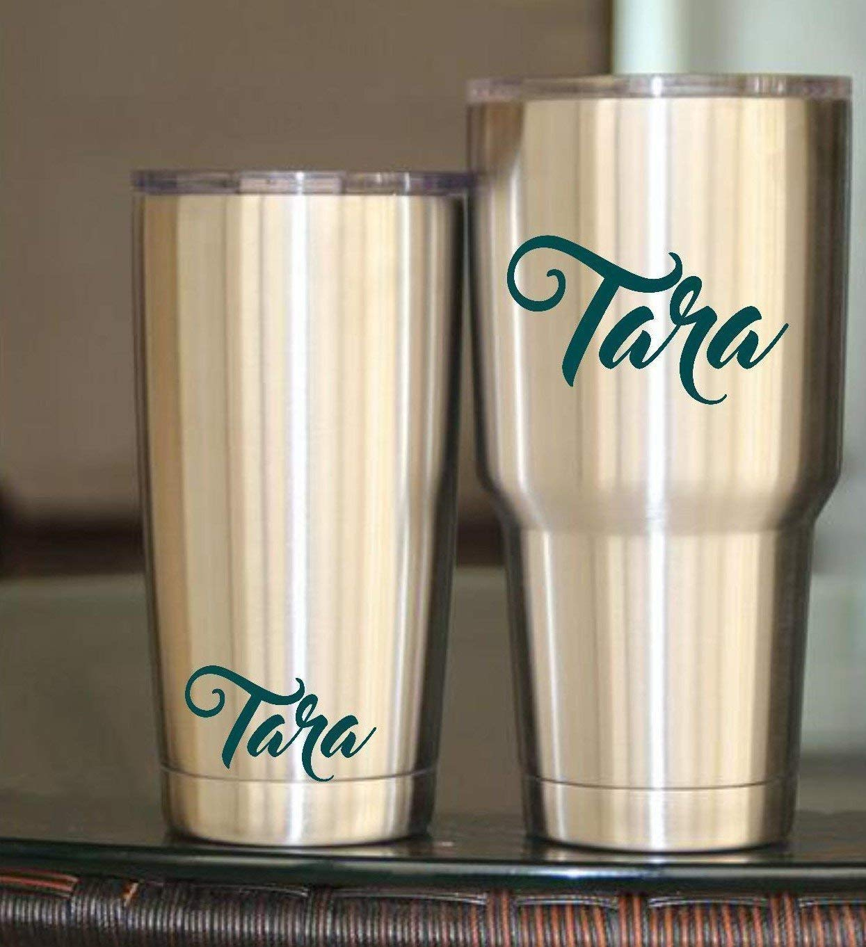 Personalized Name for Men or Women Monogram Vinyl Decal for Your Tumbler Stencil