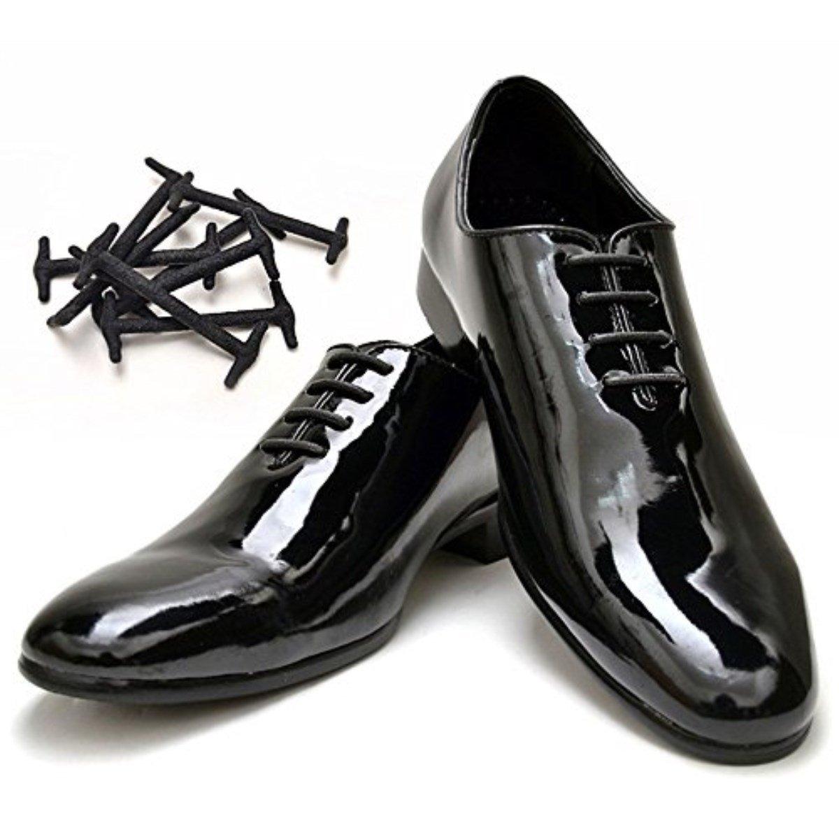 Uniqstore 2 paires chaussures élastiques en silicone chaussure Oxford lacets A03-G-GJXDP