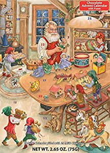 Santa's Toy Shop Chocolate Advent Calendar (2.65 oz/75G)