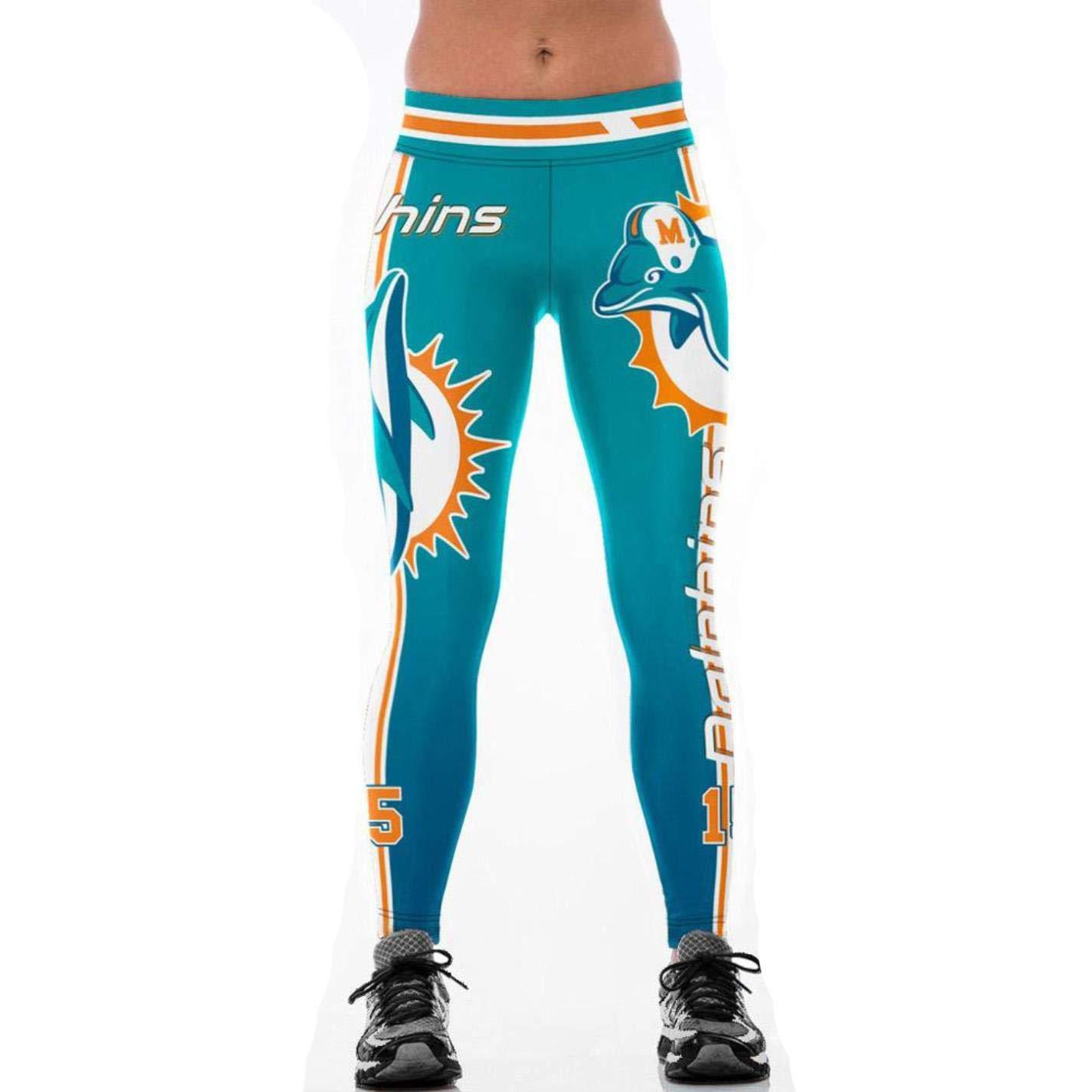Women/'s Footballs Denver Broncos 3D Print Fitness Leggings Elastic Pants