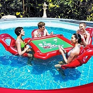 Amazon.com: viyor tienda inflable juego de Poker flotador ...