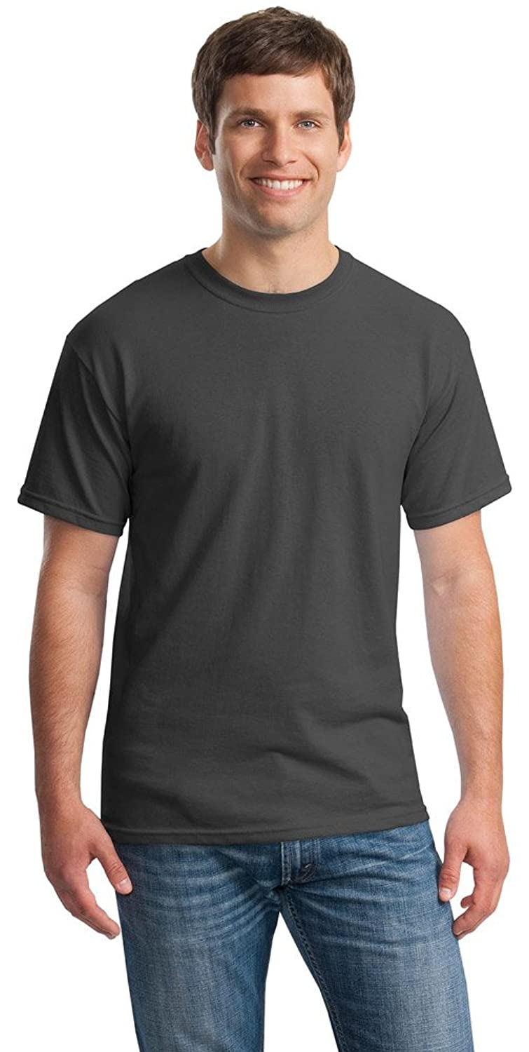 Gildan Mens Heavy Cotton 100% Cotton T-Shirt, 3XL, Charcoal