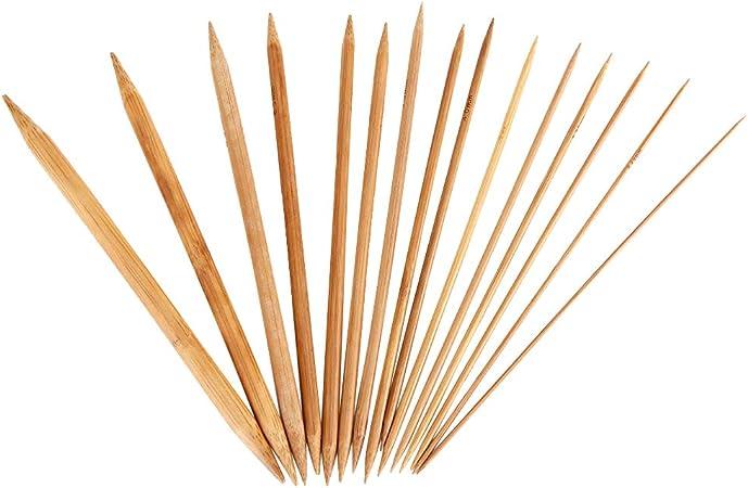 Rundstricknadel Stricknadel Bambus alle Grössen mit Länge 15 cm Nadelspiel