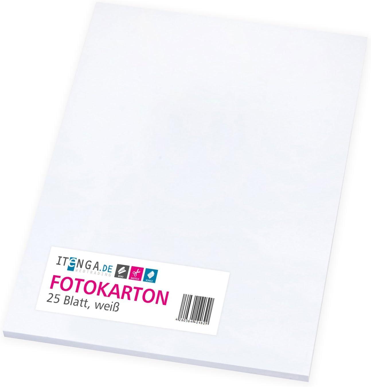 itenga, cartulina fotográfica blanca 25 hojas A4, 300 g/m² grueso ...