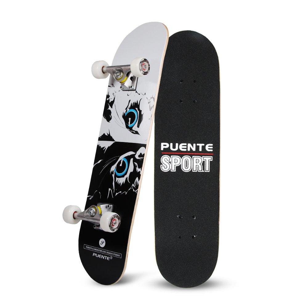 YF YOUFU Skateboard, 31 Inch pro Skateboards- 7 Layer Canadian Maple Wood Double Kick Concave Skateboards, Tricks Skate Board for Beginners