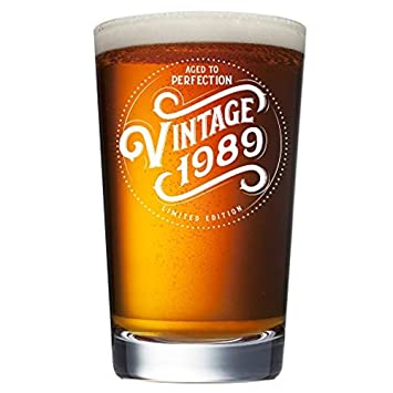 Amazon Com 1989 30th Birthday Gifts For Men Women Beer Glass