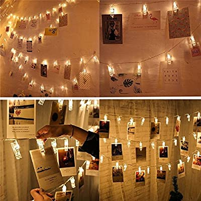 2M 20 LED String Lights with Photo Clip Battery Operated Christmas Lights Wedding Party Window Home Decoration Lights