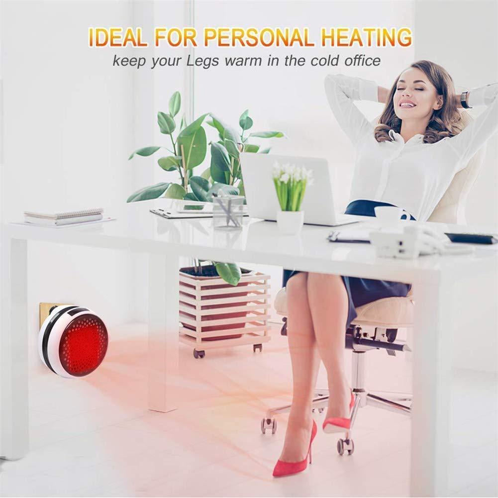 Nifogo Heater Mini Calentador Ceramico de Pared - Estufa Electrica con Control Remoto, 900W Termoventilador Bajo Consumo,Temporizador de 12 Horas, ...