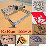 DIY CNC Laser Engraver Kits 4050 GRBL Control Wood Carving Engraving Machine (Working Area 40x50cm, 2 Axis, 500mW