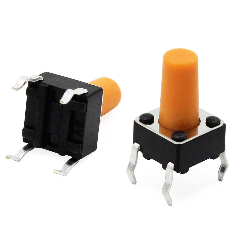 8 Values 420PCS HSeaMall 420PCS Color/é Tactile Bouton-Poussoir Micro Momentan/ée Tact Assortiment Kit avec Bouton Caps 8 Valeurs