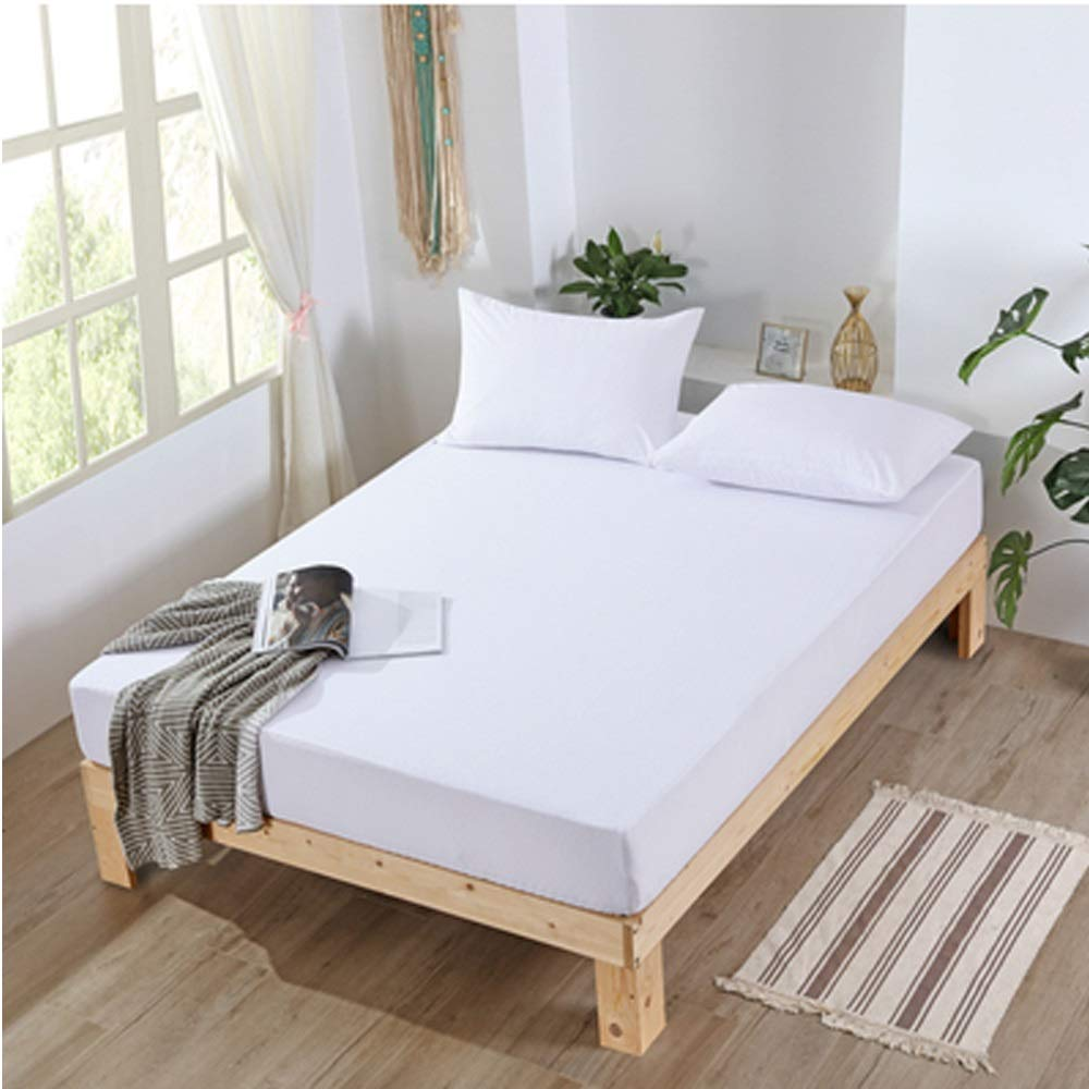 Zhengtufuzhuang Cotton Towel Waterproof Mattress Cover/Urine Isolation, Menstruation, Breathable, Anti-mite, Protective Pad, Leakproof Dust/Cotton White Reliable Quality (Size : 150200cm) by Zhengtufuzhuang