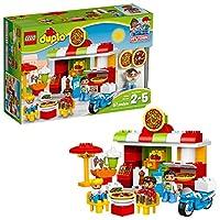 LEGO DUPLO My Town Pizzeria 10834, Preescolar, juguetes de bloques de construcción grandes para preescolar para niños pequeños