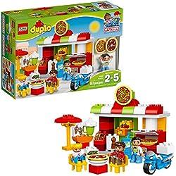 LEGO DUPLO My Town Pizzeria 10834, Preschool, Pre-Kindergarten Large Building Block Toys for Toddlers