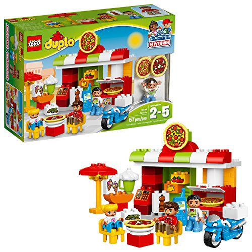LEGO DUPLO My Town Pizzeria 10834, Preschool, Pre-Kindergarten Large Building Block Toys for Toddlers ()