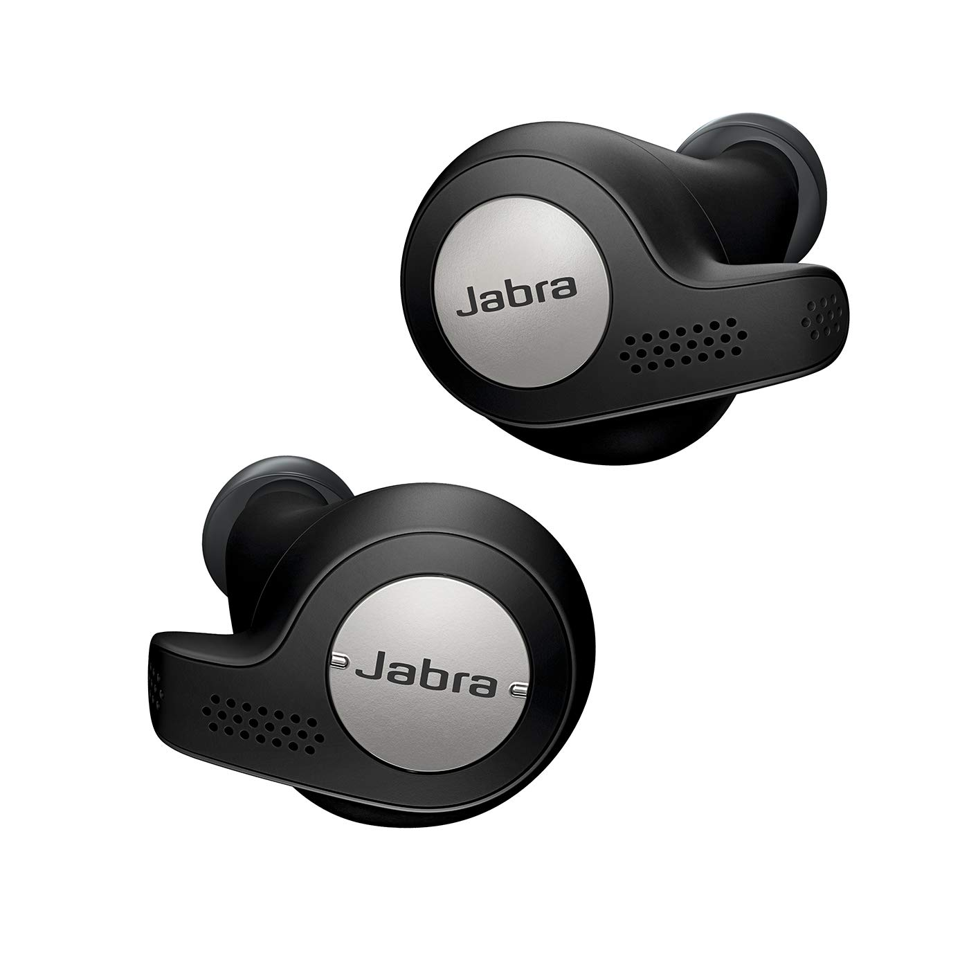 Jabra Elite Active 65t - Auriculares inalámbricos para deporte (Bluetooth® 5.0, True Wireless) con Alexa integrada, Negro y Titanio