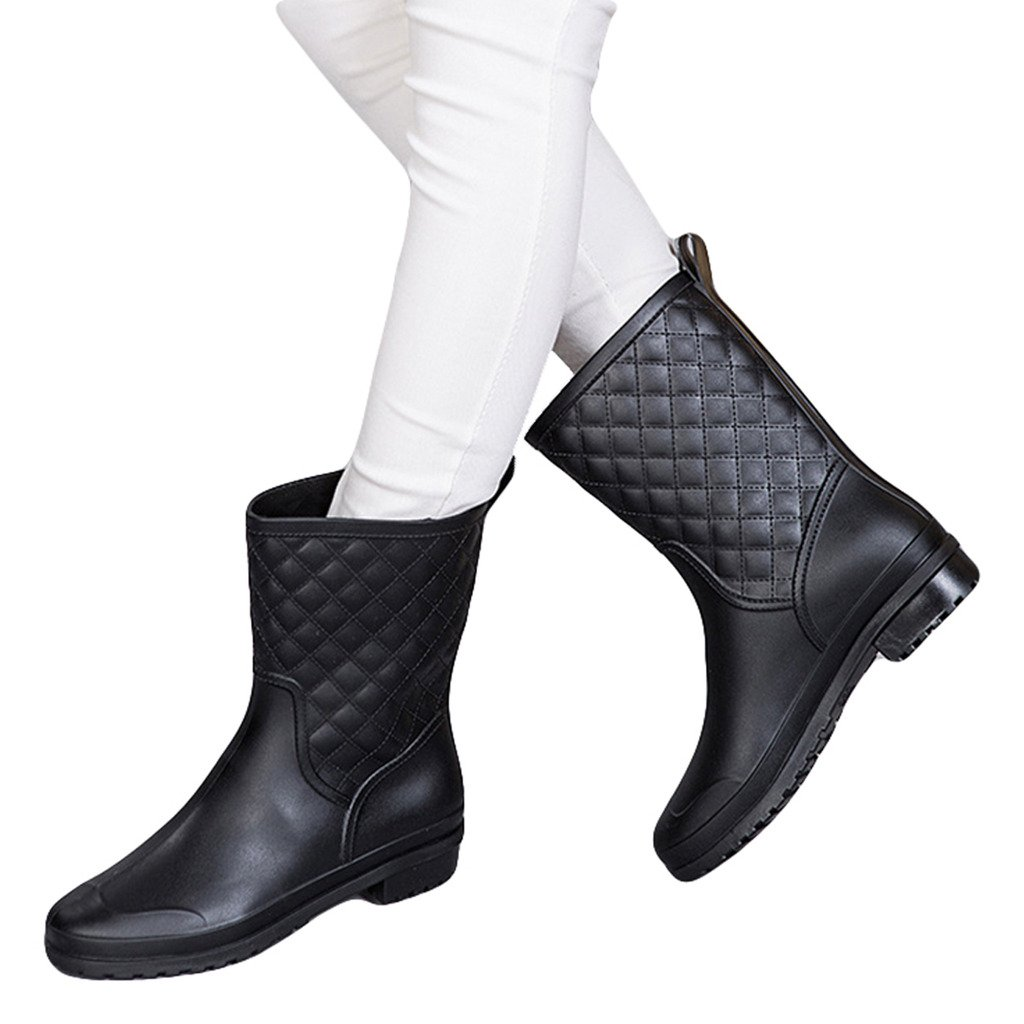Dear Time Women Quilted Styles Rain Boots US 8.5