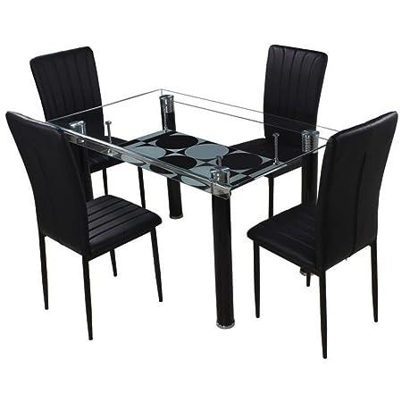 Woodness Madison 6042+6162 4 Seater Dinning Table Set (Black)