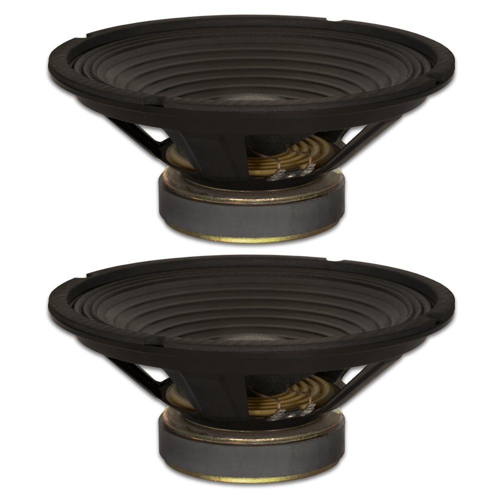 Goldwood Sound, Inc. Stage Subwoofer, Pro 10 Woofers 30oz Magnets 210 Watts Each Replacement 2 Speaker Set (GW-1038/PA-2)