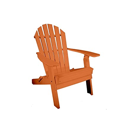 Merveilleux Rocky Ridge Outdoor Furniture Recycled Plastic Folding Adirondack Chair ( Orange)