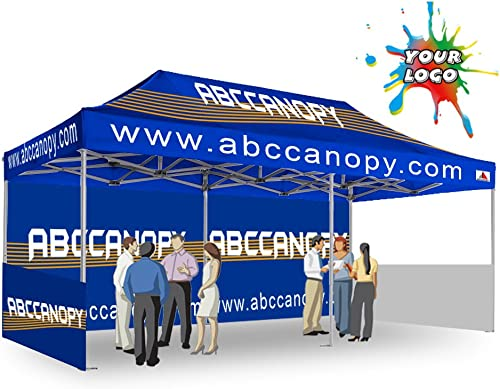 ABCCANOPY Pro-40 Custom Trade Show Tents 10×20 Portable Trade Show Booth w Wheeled Bag Bouns Weight Bags