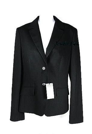 90c1c607874 Hugo BOSS Navy Black Wool Business JANNA3 Blazer Jacket at Amazon ...