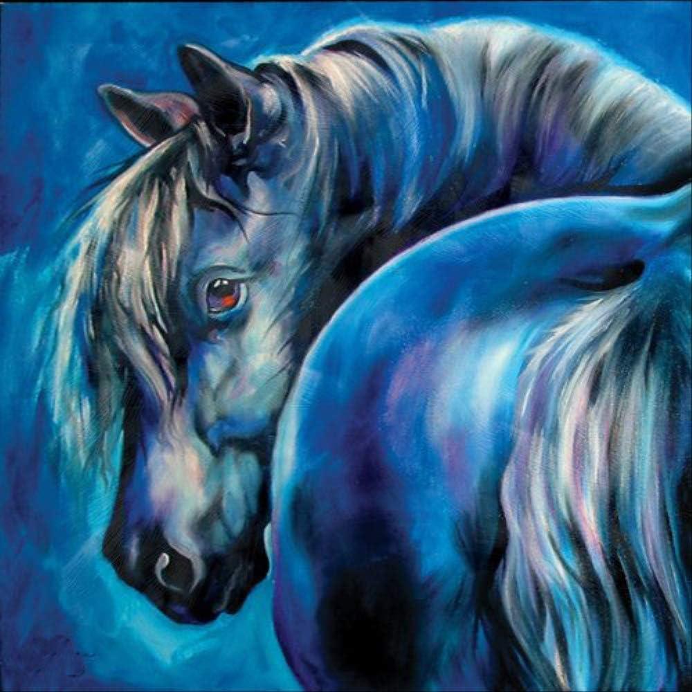 QTTZWZQ Caballo Pintado A Mano En Lienzo Cuadros Abstractos Modernos Pinturas Al Óleo Animales para La Decoración del Hogar Arte De La Pared
