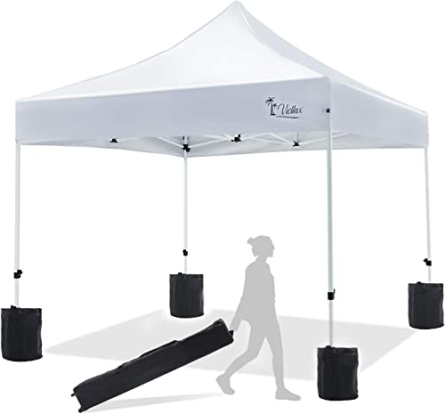VICLLAX Pop Up Canopy Tent 10×10 FT Portable Commercial Instant Shelter Folding Canopy