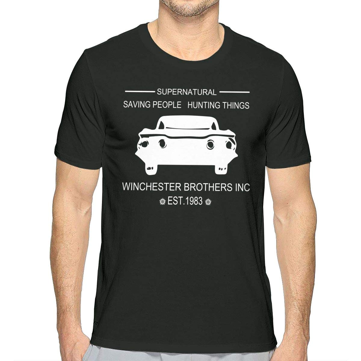 JJKKFG-H Supernatural Mens Cool Short Sleeve T Shirt