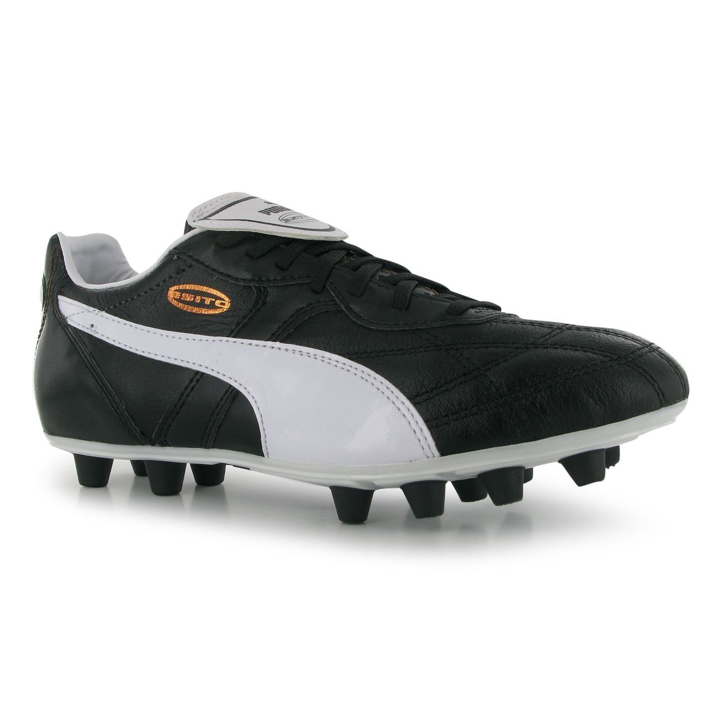 Amazoncom  Puma Esito Classic FG Firm Ground Football Boots Mens  BlackWhite Soccer Cleats  Sports  Outdoors