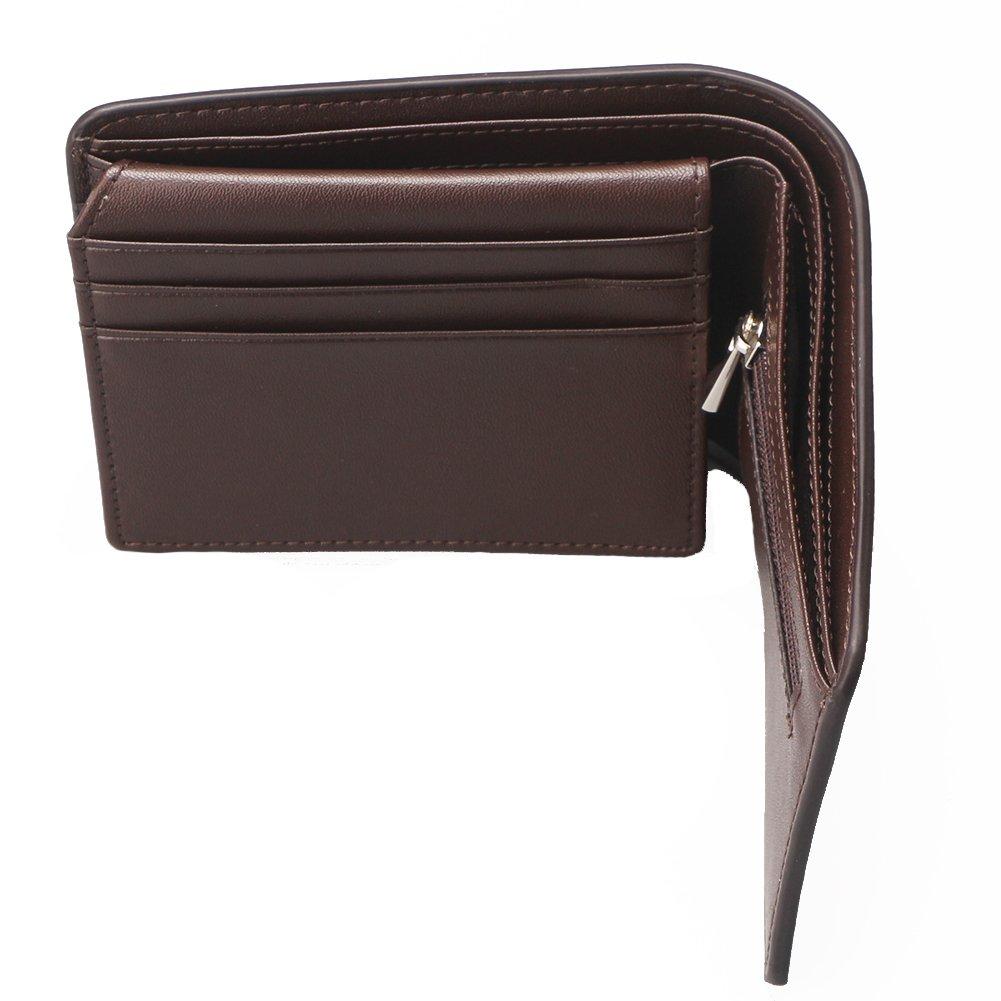 Mens Genuine Leather Wallet Cowhide Soft Slim Money Clip Card Organizer