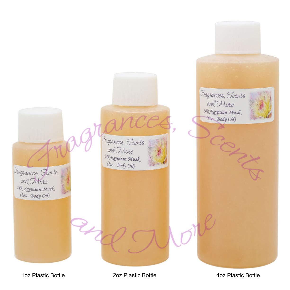 24K Egyptian Musk Perfume/Body Oil (7 Sizes) - Free Shipping (4oz Plastic Bottle (120ml))