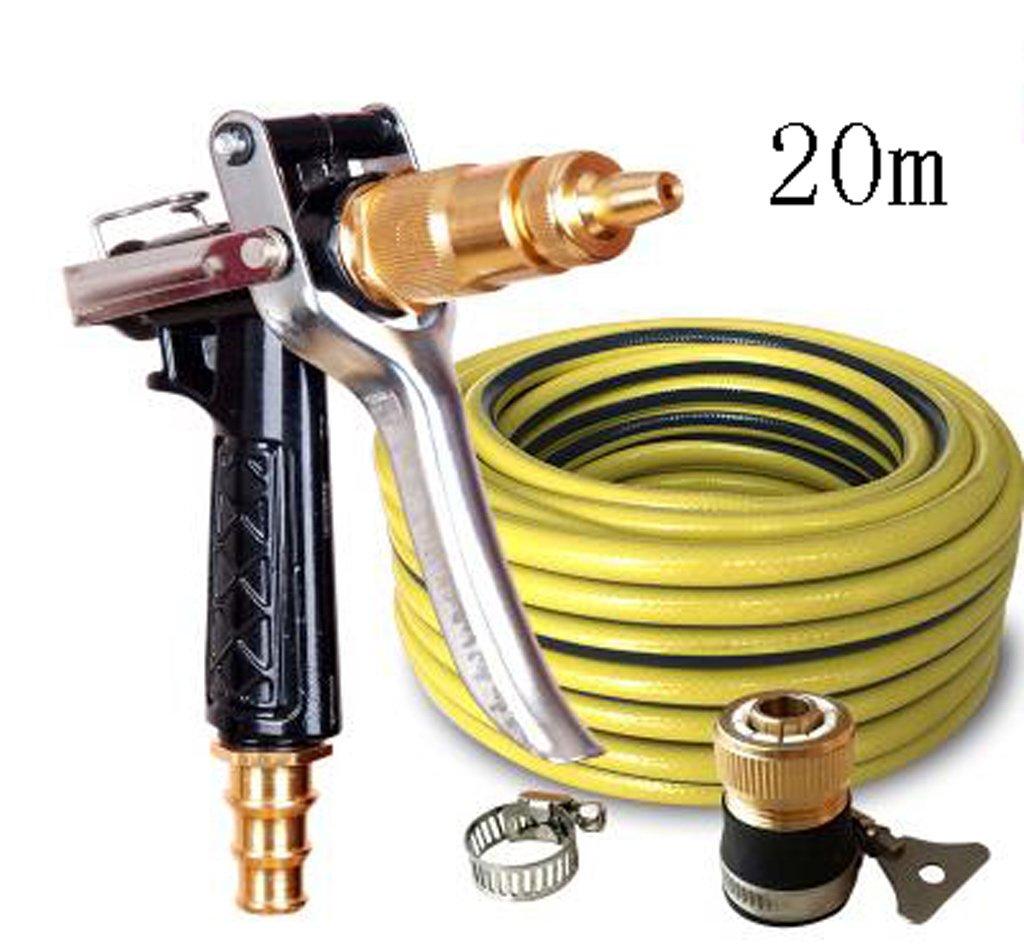 SHI XIANG SHOP Hochdruck-Autowaschanlage Kupfer-Wasserpistole SchwarzMehrfach-Option Optional A+ ( größe   40 meters )  20 meters