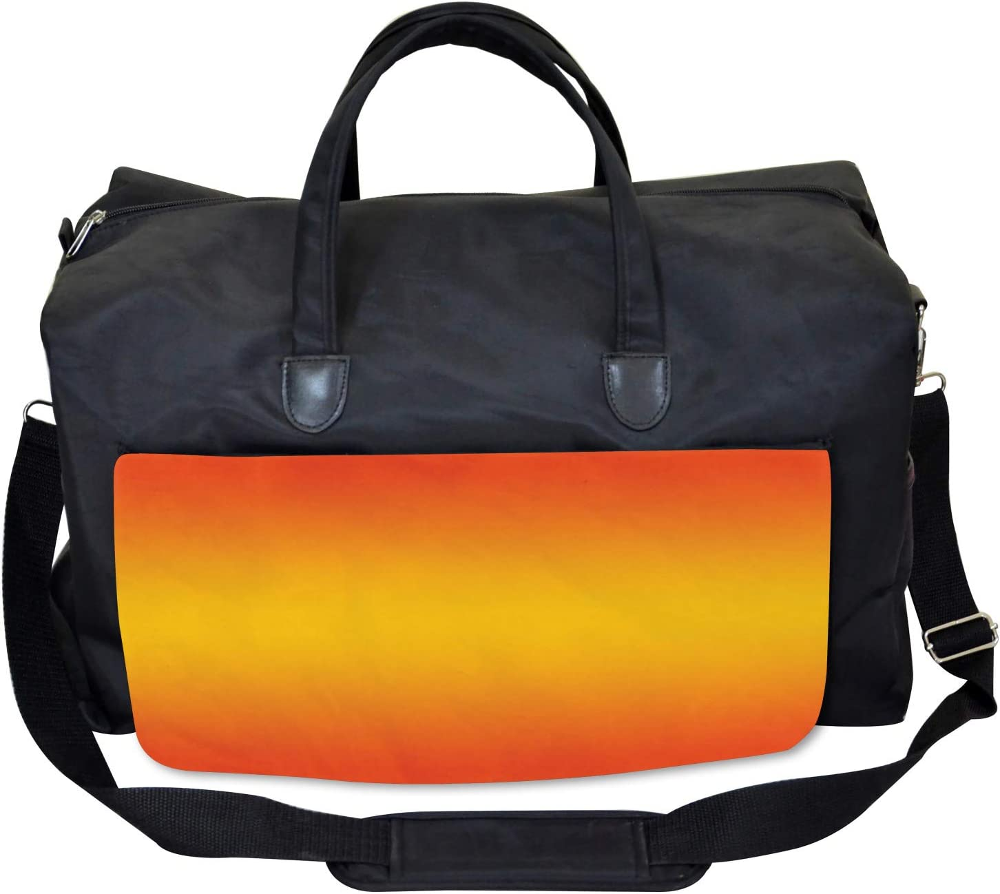 Large Weekender Carry-on Ambesonne Ombre Gym Bag Tropical Summer Themed