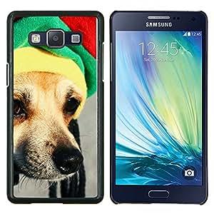 EJOOY---Cubierta de la caja de protección para la piel dura ** Samsung Galaxy A5 A5000 ** --Rasta Sombrero perro Chihuahua Hocico Hocico
