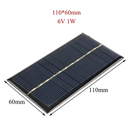 Amazon.com: VQP Panel Solar 2PCS/5V 6V 12V Mini Sistema ...