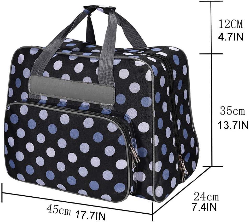 blau gepolsterte Aufbewahrungstasche mit Taschen und Griffen Werkzeugtasche f/ür N/ähmaschine und extra N/ähzubeh/ör Extra gro/ße N/ähmaschinentasche