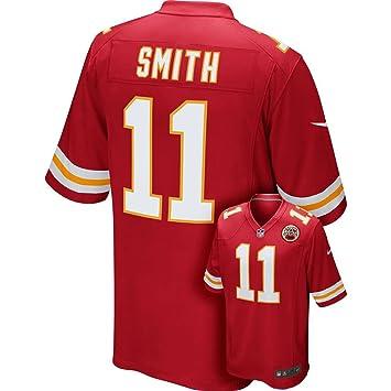 Nike Camiseta réplica de la Camiseta de la NFL Kansas City Chiefs Alex Smith Juego, Grande: Amazon.es: Deportes y aire libre