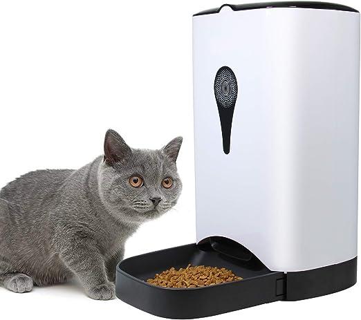 Perro de mascotas automático y alimentador de gatos, alimentador de mascotas con temporizador programable, cámara HD para grabación de voz y video, aplicación Wi-Fi Habilitada para iPhone y Android: Amazon.es: Hogar
