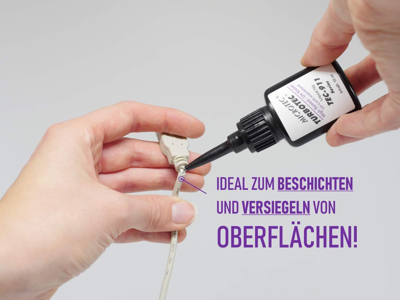 Microtec Uv-kleber Mit Uv-taschenlampe 10g Der Schnellste Kleber Der Welt