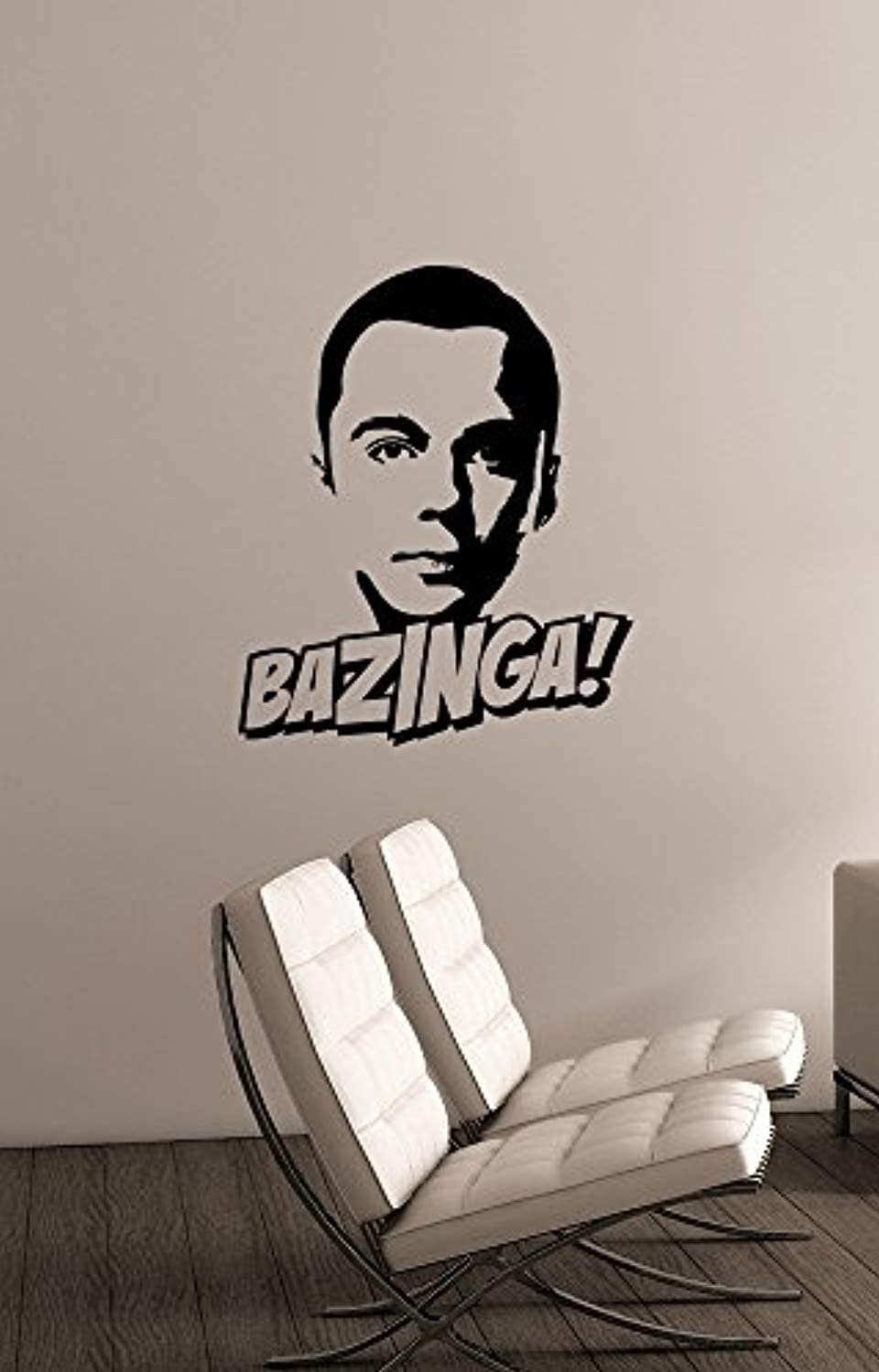 Sheldon Cooper Quote Wall Art Bazinga The Big Bang Theory Decal Vinyl Lettering Humorous Saying Sticker TV Show Decorations for Home Room Bedroom Comic Decor bt3