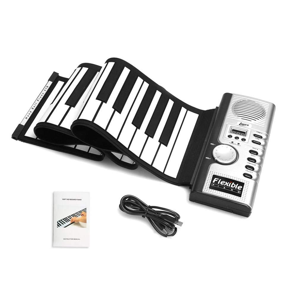 poetryer Pianoforte Portatile 88/Tasti di Silicone Flessibile Arrotolabile Organo elettronico Portatile Organo elettronico di Silicone