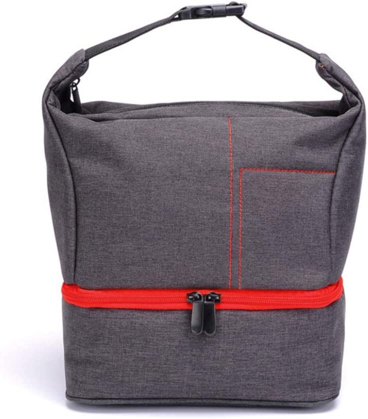 Casual Waterproof Storage Bag Protective Case Zipper Cross Body for DSLR Cameras Red