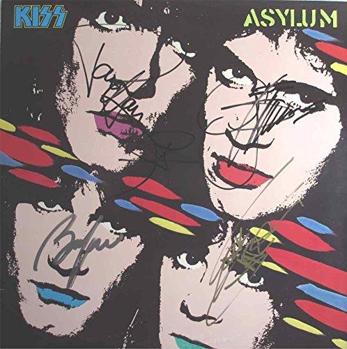Kiss Asylum Autographed Signed Record Album Lp Certified Authentic Coa