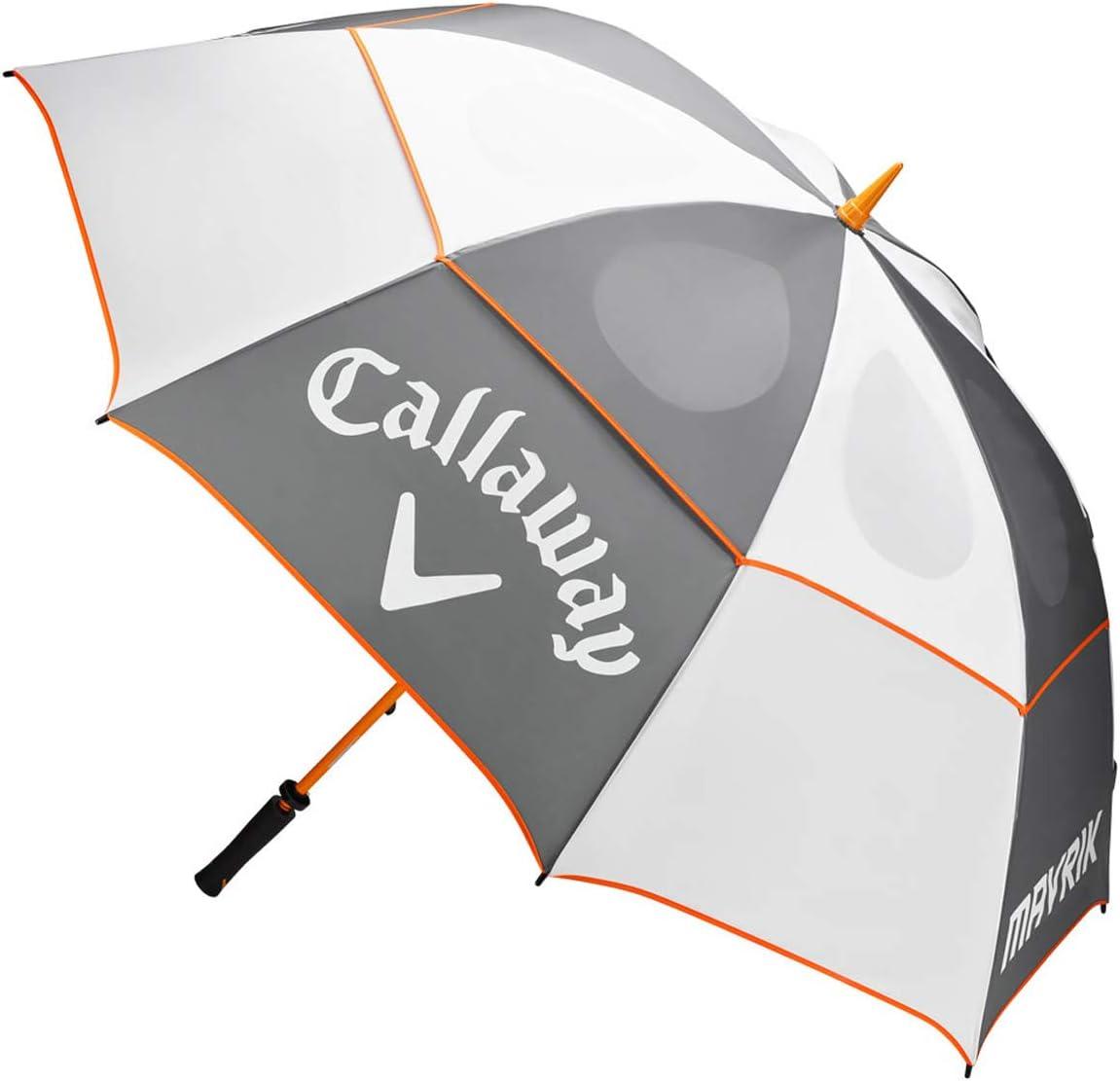 Callaway Mavrik Double Canopy Golf Umbrella White Charcoal Orange New 2020 Sports Outdoors